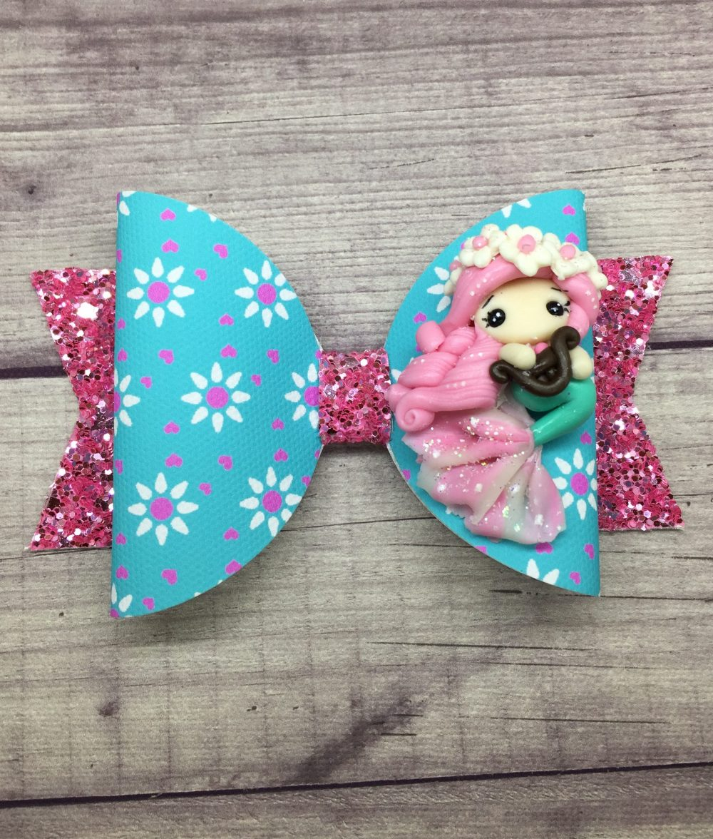Pink Mermaid Hair Bow