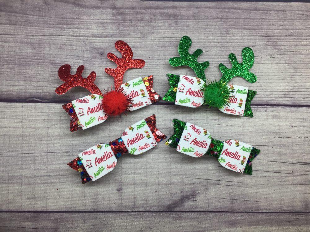 Reindeer Antlers Christmas Bows